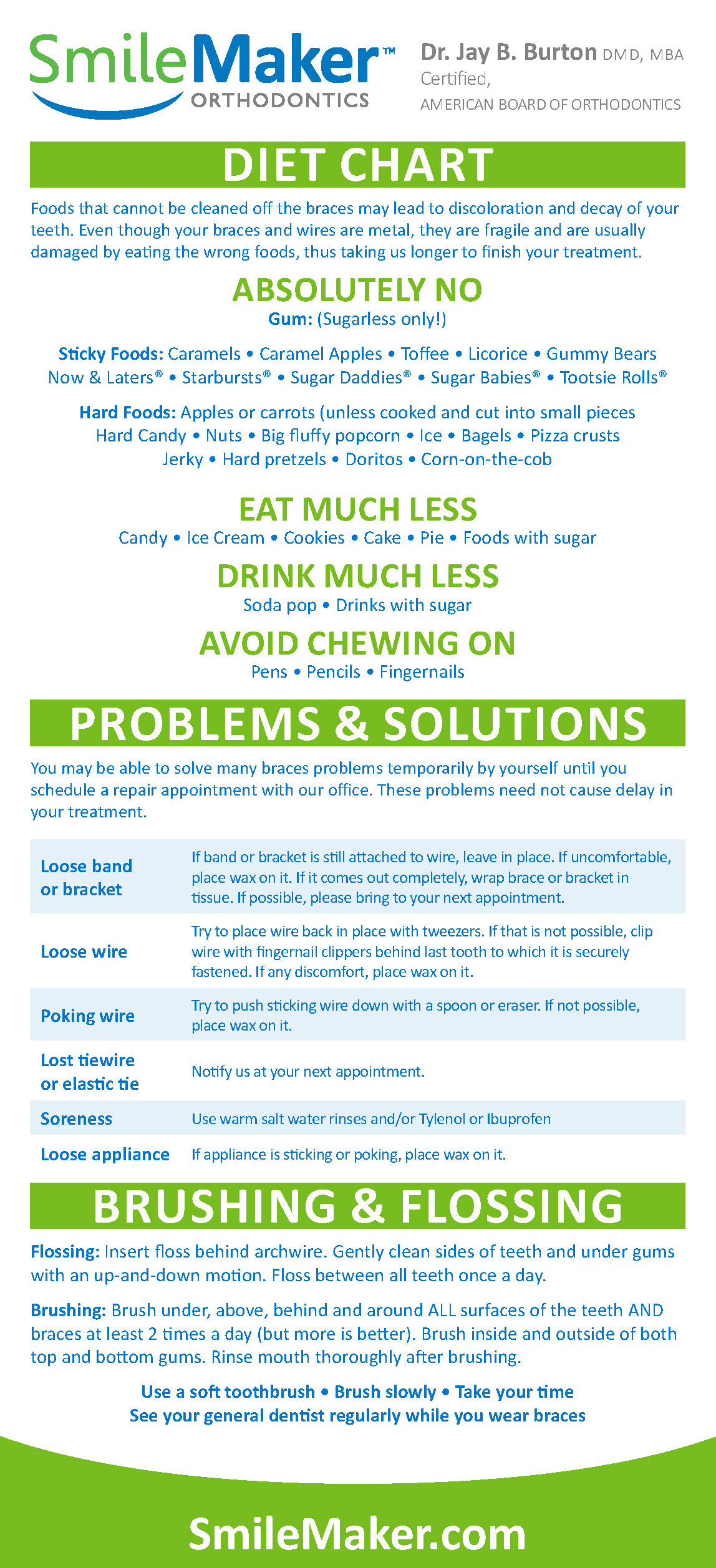 Foods to avoid with braces (orthodontic) what not to eat